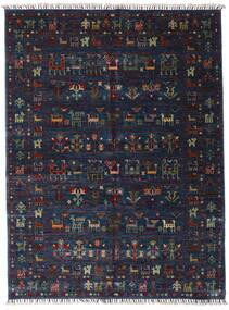 Shabargan Χαλι 154X205 Σύγχρονα Χειροποιητο Σκούρο Μωβ/Σκούρο Μπλε (Μαλλί, Αφγανικά)