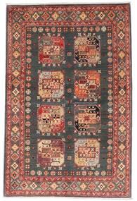 Kazak Χαλι 118X179 Ανατολής Χειροποιητο Σκούρο Κόκκινο/Σκούρο Γκρι (Μαλλί, Αφγανικά)