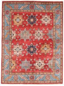 Kazak Χαλι 151X206 Ανατολής Χειροποιητο Σκούρο Κόκκινο/Στο Χρώμα Της Σκουριάς (Μαλλί, Αφγανικά)