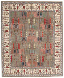 Kazak Χαλι 244X296 Ανατολής Χειροποιητο Ανοιχτό Γκρι/Μπεζ (Μαλλί, Αφγανικά)