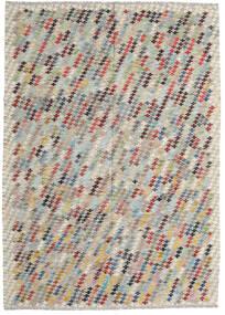 Κιλίμ Afghan Old Style Χαλι 207X287 Ανατολής Χειροποίητη Ύφανση Ανοιχτό Γκρι/Ανοιχτό Καφέ (Μαλλί, Αφγανικά)