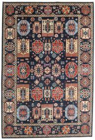 Kazak Χαλι 199X293 Ανατολής Χειροποιητο Σκούρο Μπλε/Σκούρο Γκρι (Μαλλί, Αφγανικά)
