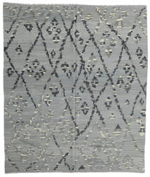 Κιλίμ Μοντέρνα Χαλι 257X297 Σύγχρονα Χειροποίητη Ύφανση Ανοιχτό Πράσινο/Σκούρο Γκρι Μεγαλα (Μαλλί, Αφγανικά)
