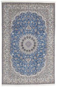 Nain 9La Χαλι 208X316 Ανατολής Χειροποιητο Ανοιχτό Γκρι/Μπλε (Μάλλινα/Μεταξωτά, Περσικά/Ιρανικά)