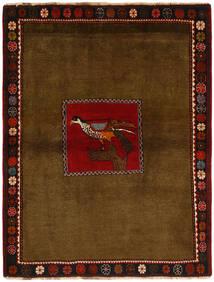 Ghashghai Χαλι 130X170 Ανατολής Χειροποιητο Καφέ/Σκούρο Καφέ (Μαλλί, Περσικά/Ιρανικά)