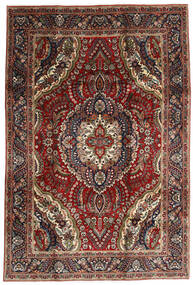 Tabriz Χαλι 195X288 Ανατολής Χειροποιητο Σκούρο Κόκκινο/Σκούρο Καφέ (Μαλλί, Περσικά/Ιρανικά)