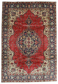 Tabriz Χαλι 207X295 Ανατολής Χειροποιητο Σκούρο Κόκκινο/Σκούρο Καφέ (Μαλλί, Περσικά/Ιρανικά)