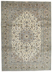 Keshan Χαλι 259X358 Ανατολής Χειροποιητο Ανοιχτό Γκρι/Σκούρο Γκρι Μεγαλα (Μαλλί, Περσικά/Ιρανικά)