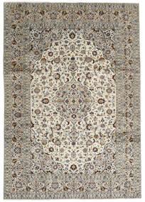Keshan Χαλι 246X352 Ανατολής Χειροποιητο Ανοιχτό Γκρι/Σκούρο Γκρι (Μαλλί, Περσικά/Ιρανικά)