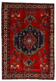 Afshar Χαλι 169X243 Ανατολής Χειροποιητο Σκούρο Κόκκινο/Στο Χρώμα Της Σκουριάς (Μαλλί, Περσικά/Ιρανικά)
