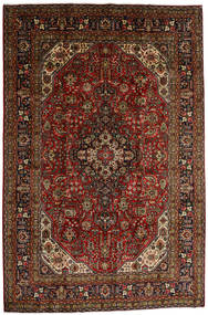Tabriz Χαλι 196X290 Ανατολής Χειροποιητο Σκούρο Καφέ/Σκούρο Κόκκινο (Μαλλί, Περσικά/Ιρανικά)