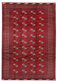 Turkaman Χαλι 199X282 Ανατολής Χειροποιητο Σκούρο Κόκκινο/Kόκκινα (Μαλλί, Περσικά/Ιρανικά)