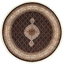 Tabriz Royal Χαλι Ø 151 Ανατολής Χειροποιητο Στρογγυλο Σκούρο Κόκκινο/Καφέ ( Ινδικά)