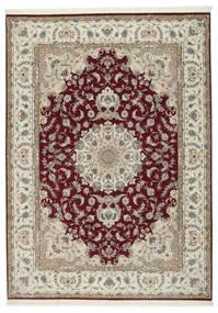 Tabriz 50 Raj Με Μετάξι Χαλι 248X347 Ανατολής Χειροποιητο Ανοιχτό Γκρι/Σκούρο Κόκκινο (Μάλλινα/Μεταξωτά, Περσικά/Ιρανικά)