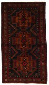 Beluch Χαλι 105X190 Ανατολής Χειροποιητο Σκούρο Καφέ/Kόκκινα (Μαλλί, Αφγανικά)