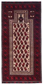 Beluch Χαλι 98X209 Ανατολής Χειροποιητο Σκούρο Κόκκινο (Μαλλί, Περσικά/Ιρανικά)