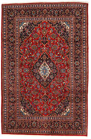 Keshan Χαλι 195X294 Ανατολής Χειροποιητο Σκούρο Κόκκινο/Μαύρα (Μαλλί, Περσικά/Ιρανικά)