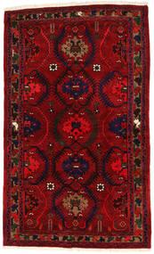 Hamadan Χαλι 136X224 Ανατολής Χειροποιητο Σκούρο Κόκκινο/Kόκκινα (Μαλλί, Περσικά/Ιρανικά)