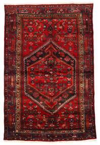 Zanjan Χαλι 133X203 Ανατολής Χειροποιητο Σκούρο Κόκκινο/Σκούρο Καφέ/Στο Χρώμα Της Σκουριάς (Μαλλί, Περσικά/Ιρανικά)