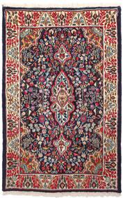 Kerman Χαλι 91X146 Ανατολής Χειροποιητο Σκούρο Μωβ/Σκούρο Κόκκινο (Μαλλί, Περσικά/Ιρανικά)