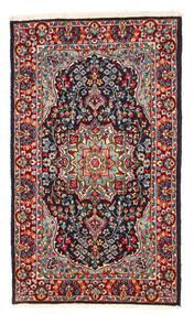 Kerman Χαλι 122X208 Ανατολής Χειροποιητο Σκούρο Κόκκινο/Σκούρο Μωβ (Μαλλί, Περσικά/Ιρανικά)