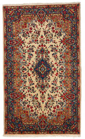 Kerman Χαλι 145X241 Ανατολής Χειροποιητο Σκούρο Κόκκινο/Μπεζ (Μαλλί, Περσικά/Ιρανικά)
