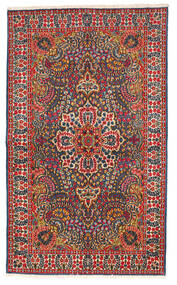 Kerman Χαλι 147X245 Ανατολής Χειροποιητο Μαύρα/Στο Χρώμα Της Σκουριάς (Μαλλί, Περσικά/Ιρανικά)