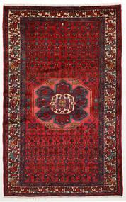 Hamadan Χαλι 130X208 Ανατολής Χειροποιητο Σκούρο Κόκκινο/Μαύρα (Μαλλί, Περσικά/Ιρανικά)