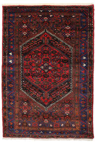 Zanjan Χαλι 138X205 Ανατολής Χειροποιητο Σκούρο Κόκκινο/Σκούρο Καφέ (Μαλλί, Περσικά/Ιρανικά)