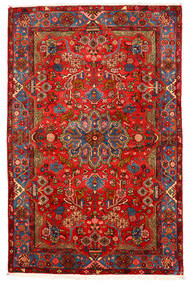 Nahavand Old Χαλι 155X238 Ανατολής Χειροποιητο Σκούρο Κόκκινο/Σκούρο Καφέ (Μαλλί, Περσικά/Ιρανικά)