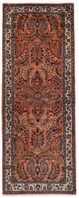 Sarough Χαλι 72X190 Ανατολής Χειροποιητο Χαλι Διαδρομοσ Σκούρο Κόκκινο/Μαύρα (Μαλλί, Περσικά/Ιρανικά)