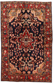 Mahal Χαλι 137X213 Ανατολής Χειροποιητο Σκούρο Κόκκινο/Σκούρο Καφέ (Μαλλί, Περσικά/Ιρανικά)