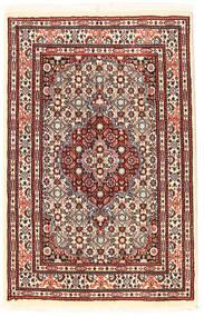 Moud Χαλι 56X89 Ανατολής Χειροποιητο Σκούρο Καφέ/Σκούρο Κόκκινο (Μάλλινα/Μεταξωτά, Περσικά/Ιρανικά)