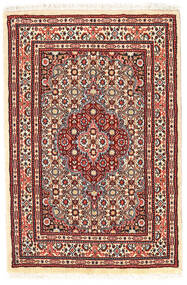 Moud Χαλι 58X89 Ανατολής Χειροποιητο Σκούρο Κόκκινο/Μπεζ (Μάλλινα/Μεταξωτά, Περσικά/Ιρανικά)