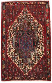 Senneh Χαλι 65X105 Ανατολής Χειροποιητο Σκούρο Κόκκινο/Μαύρα (Μαλλί, Περσικά/Ιρανικά)