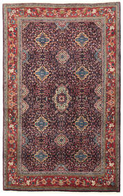 Bidjar Χαλι 134X209 Ανατολής Χειροποιητο Σκούρο Μωβ/Σκούρο Κόκκινο (Μαλλί, Περσικά/Ιρανικά)