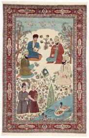 Sarough Χαλι 143X213 Ανατολής Χειροποιητο Μπεζ/Σκούρο Καφέ (Μάλλινα/Μεταξωτά, Περσικά/Ιρανικά)
