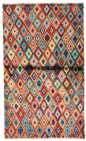 Moroccan Berber - Afghanistan Χαλι 85X142 Σύγχρονα Χειροποιητο Σκούρο Καφέ/Στο Χρώμα Της Σκουριάς (Μαλλί, Αφγανικά)