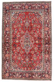 Keshan Χαλι 132X210 Ανατολής Χειροποιητο Σκούρο Κόκκινο/Σκούρο Καφέ (Μαλλί, Περσικά/Ιρανικά)