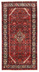 Hosseinabad Χαλι 122X238 Ανατολής Χειροποιητο Σκούρο Καφέ/Σκούρο Κόκκινο (Μαλλί, Περσικά/Ιρανικά)