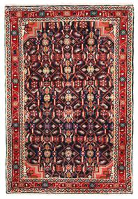 Hosseinabad Χαλι 68X102 Ανατολής Χειροποιητο Μαύρα/Σκούρο Κόκκινο (Μαλλί, Περσικά/Ιρανικά)