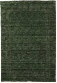 Χειροκίνητου Αργαλειού Gabba - Πράσινο Του Δάσους Χαλι 160X230 Σύγχρονα Σκούρο Πράσινο (Μαλλί, Ινδικά)