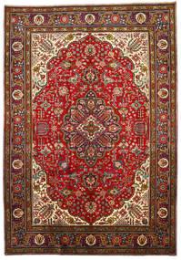 Tabriz Χαλι 205X296 Ανατολής Χειροποιητο Σκούρο Κόκκινο/Στο Χρώμα Της Σκουριάς (Μαλλί, Περσικά/Ιρανικά)