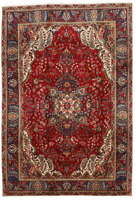 Tabriz Χαλι 202X295 Ανατολής Χειροποιητο Σκούρο Κόκκινο/Μαύρα (Μαλλί, Περσικά/Ιρανικά)