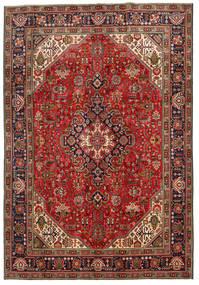 Tabriz Χαλι 198X287 Ανατολής Χειροποιητο Σκούρο Καφέ/Σκούρο Κόκκινο (Μαλλί, Περσικά/Ιρανικά)