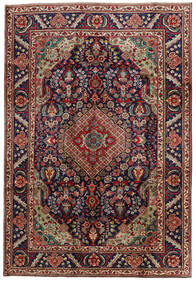 Tabriz Χαλι 201X295 Ανατολής Χειροποιητο Σκούρο Κόκκινο/Μαύρα (Μαλλί, Περσικά/Ιρανικά)