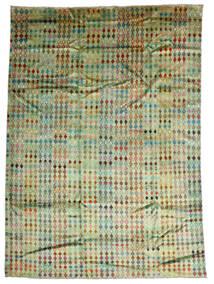 Moroccan Berber - Afghanistan Χαλι 207X288 Σύγχρονα Χειροποιητο Ανοιχτό Πράσινο/Λαδί (Μαλλί, Αφγανικά)
