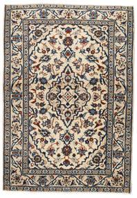 Keshan Χαλι 103X146 Ανατολής Χειροποιητο Μπεζ/Μαύρα/Ανοιχτό Γκρι (Μαλλί, Περσικά/Ιρανικά)