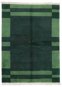 Γκάμπεθ Indo Χαλι 171X226 Σύγχρονα Χειροποιητο Σκούρο Τυρκουάζ/Σκούρο Πράσινο (Μαλλί, Ινδικά)