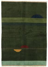 Γκάμπεθ Indo Χαλι 145X199 Σύγχρονα Χειροποιητο Σκούρο Πράσινο (Μαλλί, Ινδικά)
